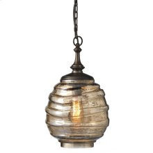 Medium Gold Luster Swirl Pendant Lamp. 60W Max. Hard Wire Only.