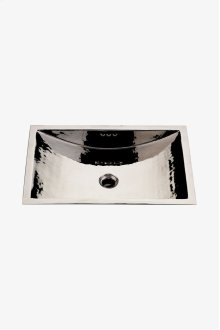 "Normandy Drop In or Undermount Rectangular Hammered Copper Lavatory Sink 38"" x 18 5/16"" x 6 15/16"" STYLE: NOLV55"