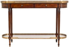 Maximos Oval Console - Medium Walnut