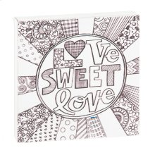 """Love Sweet Love"" Magnet Block."