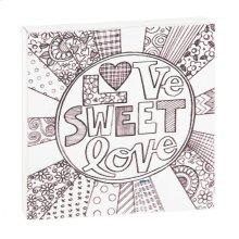"""Love Sweet Love"" Magnet Block."