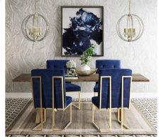 Akiko Navy Velvet Chair Product Image