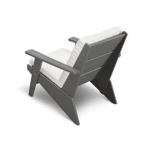 White & Spectrum Indigo Riviera Modern Lounge Chair