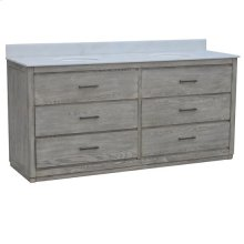 "Richmond 4 Drawer 72"" Double Vanity Sink"