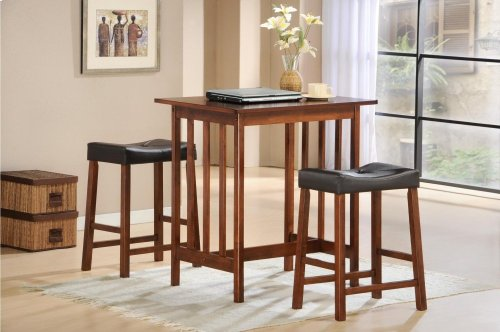 3-Piece Pack Counter Height Set, Cherry