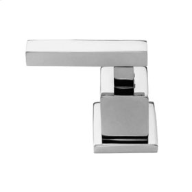 Matte White Diverter/Flow Control Handle - Hot