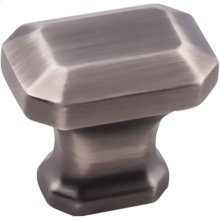 """1-1/4"""" Overall Length Emerald Cut Cabinet Knob."""