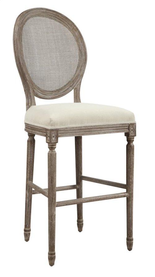 "Emerald Home Salerno Barstool 30"" W/uph Seat-rattan Back-sand Gray/distressed Finish-u3693-30-09 (copy)"