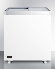 Full-sized Commercial Storage Freezer With Sliding Glass Lid and Digital Thermostat