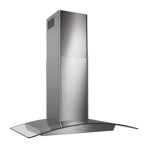 """30"""", Stainless steel, Curved Glass Canopy, 500 CFM, Electronic Control"""