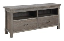 """Entertainment TV Console 64""""-rustic Charcoal Finish"""
