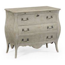Grey Painted Bombe Chest of Drawers