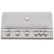 Blaze 40 Inch 5-Burner LTE Gas Grill with Rear Burner and Built-in Lighting System, With Fuel type - Propane