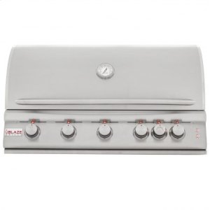 BLAZE GRILLSBlaze 40 Inch 5-Burner LTE Gas Grill with Rear Burner and Built-in Lighting System, With Fuel type - Propane