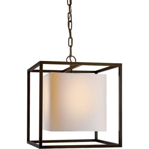 Visual Comfort SC5159BZ Eric Cohler Caged 1 Light 16 inch Bronze Foyer Pendant Ceiling Light