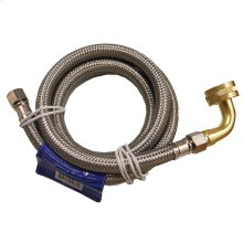 """3/8"""" OD x 3/8"""" MIP x 72"""" Stainless Steel Dishwasher Connection with Garden Hose Fitting and 90"""