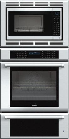 """30"""" Masterpiece® Series Triple Oven (oven, convection microwave and warming drawer) with professional handle"""