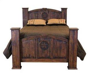 Queen Mansion Bed W/Star (Medio)