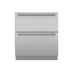 "Integrated 30"" Drawer Panels with Tubular Handles"