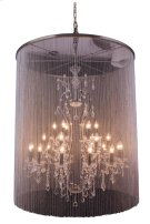 """1131 Brooklyn Collection Chandelier D:44.5"""" H:55"""" Lt:25 Dark Grey Finish (Royal Cut Crystals) Product Image"""