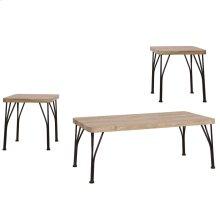 Tiago 3pk Coffee Table set in Rustic Oak