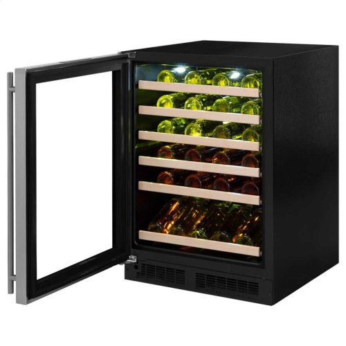 "24"" High Efficiency Single Zone Wine Cellar - Panel-Ready Solid Overlay Ready Door - Integrated Right Hinge (handle not included)*"