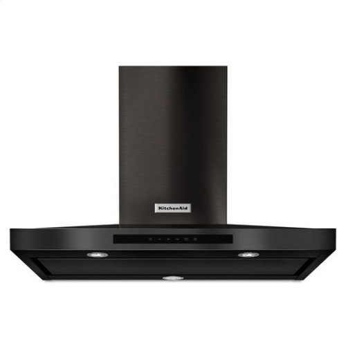 "KitchenAid® 36"" Wall-Mount, 3-Speed Canopy Hood - Black Stainless"