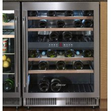 "Epicure 24"" Winesteward, in Stainless Steel with Right-Hand Door Swing"