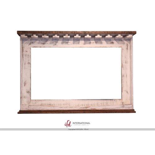 "30"" Stool - with wooden seat & base- White finish"