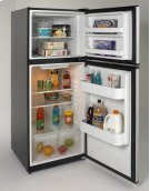 9.9 Cu. Ft. Frost Free Refrigerator - Black w/Stainless Steel Doors Product Image