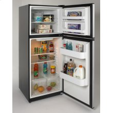 9.9 Cu. Ft. Frost Free Refrigerator - Black w/Stainless Steel Doors