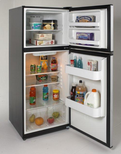 9.9 Cu. Ft. Frost Free Refrigerator - Black w/Stainless Steel Doors