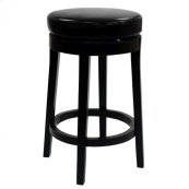 "Mbs-450 30"" Backless Swivel Barstool in Black Bonded Leather"