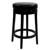 "Mbs-450 30"" Backless Swivel Barstool in Black Bonded Leather Product Image"
