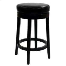 """Mbs-450 30"""" Backless Swivel Barstool in Black Bonded Leather"""