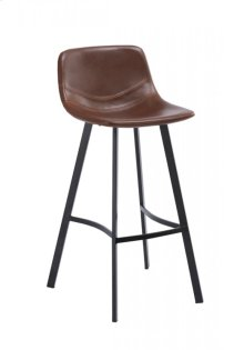 Modrest Cooper Modern Brown Bar Stool (Set of 2)