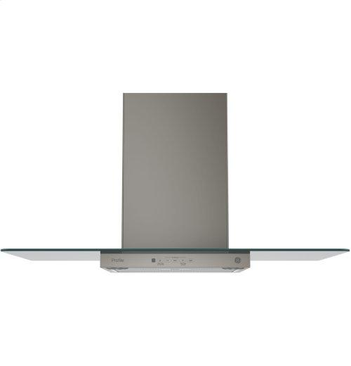 "GE Profile Series 36"" Wall-Mount Glass Canopy Chimney Hood"