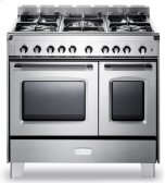 "Stainless Steel  Classic 36"" Gas Double Oven Range"