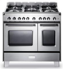 "Stainless Steel Verona Classic 36"" Gas Double Oven Range"