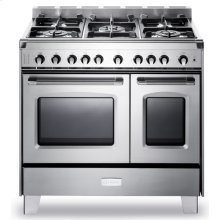 "Stainless Steel Verona Classic 36"" Gas Double Oven Range"
