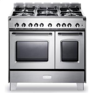 "VeronaCLASSICStainless Steel Verona Classic 36"" Gas Double Oven Range"