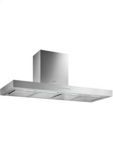 Wall-mounted hood 200 series AW 240 120 Stainless steel with stainless steel control panel Width 120 cm Air extraction/recirculation
