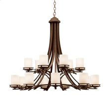 Hendrik Collection Hendrik 15 Light Chandelier in Olde Bronze