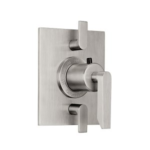 Rincon Bay Styletherm (R) Trim Only With Dual Volume Control - Polished Brass Uncoated