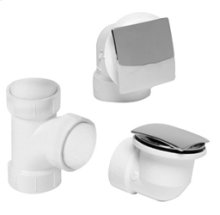 PVC Plumber's Half Kit with Deluxe Square Trim - Brushed Nickel