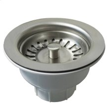 "DR320 3.5"" Basket Strainer in Brushed Nickel Drain"