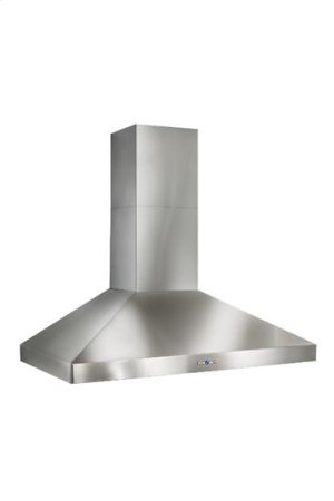 "Colonne - 36"" Stainless Steel Chimney Range Hood with a choice of Exterior or In-line blowers"