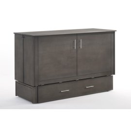 Sagebrush Murphy Cabinet Bed in Stonewash Finish