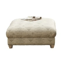 Emerald Home Hutton II Cocktail Ottoman Body Tolouse Platinum U3164-03-19