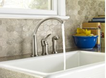 Chrome Allerton Single Handle Kitchen Faucet With Spray